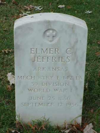 JEFFRIES (VETERAN WWI), ELMER C - Pulaski County, Arkansas | ELMER C JEFFRIES (VETERAN WWI) - Arkansas Gravestone Photos