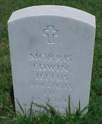 JEFFUS (VETERAN WWII), MORRIS EDWIN - Pulaski County, Arkansas | MORRIS EDWIN JEFFUS (VETERAN WWII) - Arkansas Gravestone Photos