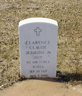 JENKINS, JR (VETERAN KOR), CLARENCE CLAUDE - Pulaski County, Arkansas | CLARENCE CLAUDE JENKINS, JR (VETERAN KOR) - Arkansas Gravestone Photos