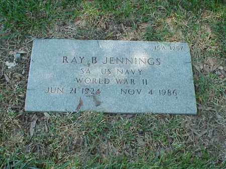 JENNINGS (VETERAN WWII), RAY B - Pulaski County, Arkansas | RAY B JENNINGS (VETERAN WWII) - Arkansas Gravestone Photos