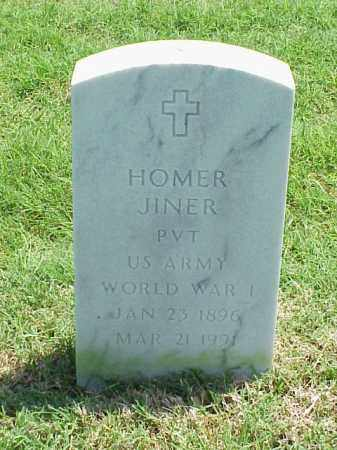 JINER (VETERAN WWI), HOMER - Pulaski County, Arkansas | HOMER JINER (VETERAN WWI) - Arkansas Gravestone Photos