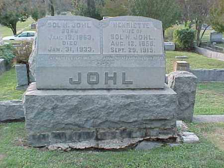 JOHL, SOL H - Pulaski County, Arkansas | SOL H JOHL - Arkansas Gravestone Photos