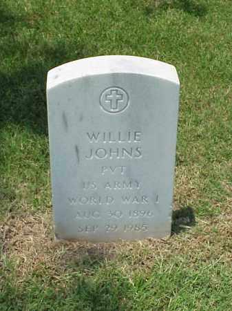 JOHNS (VETERAN WWI), WILLIE - Pulaski County, Arkansas | WILLIE JOHNS (VETERAN WWI) - Arkansas Gravestone Photos