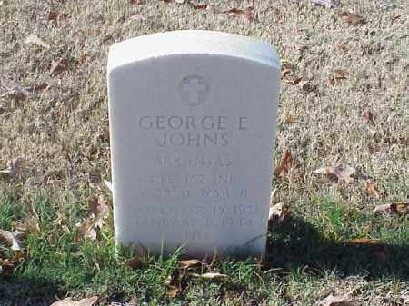 JOHNS (VETERAN WWII), GEORGE E - Pulaski County, Arkansas | GEORGE E JOHNS (VETERAN WWII) - Arkansas Gravestone Photos
