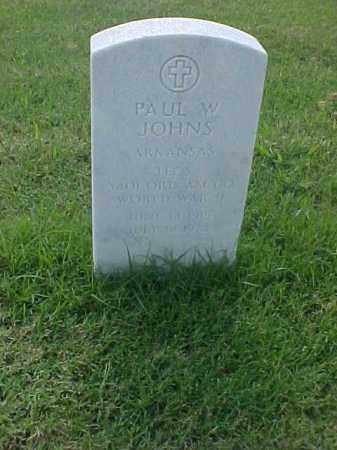 JOHNS (VETERAN WWII), PAUL W - Pulaski County, Arkansas | PAUL W JOHNS (VETERAN WWII) - Arkansas Gravestone Photos