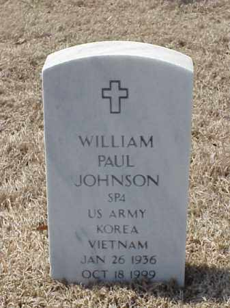JOHNSON (VETERAN 2 WARS), WILLIAM PAUL - Pulaski County, Arkansas | WILLIAM PAUL JOHNSON (VETERAN 2 WARS) - Arkansas Gravestone Photos