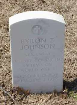 JOHNSON  (VETERAN WWI), BYRON E - Pulaski County, Arkansas | BYRON E JOHNSON  (VETERAN WWI) - Arkansas Gravestone Photos