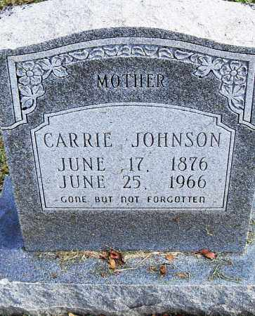 JOHNSON, CARRIE - Pulaski County, Arkansas | CARRIE JOHNSON - Arkansas Gravestone Photos