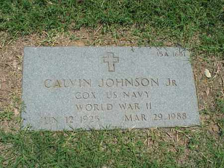 JOHNSON, JR  (VETERAN WWII), CALVIN - Pulaski County, Arkansas | CALVIN JOHNSON, JR  (VETERAN WWII) - Arkansas Gravestone Photos