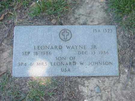 JOHNSON, JR, LEONARD WAYNE - Pulaski County, Arkansas | LEONARD WAYNE JOHNSON, JR - Arkansas Gravestone Photos