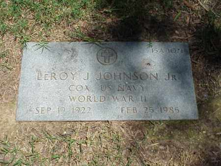 JOHNSON, JR (VETERAN WWII), LEROY J - Pulaski County, Arkansas | LEROY J JOHNSON, JR (VETERAN WWII) - Arkansas Gravestone Photos