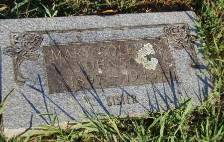 COLEMAN JOHNSON, MARY - Pulaski County, Arkansas | MARY COLEMAN JOHNSON - Arkansas Gravestone Photos