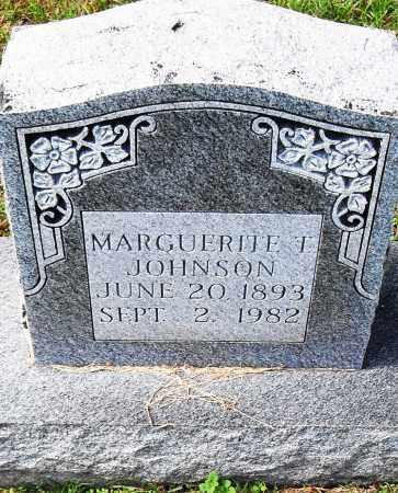 JOHNSON, MARGUERITE T - Pulaski County, Arkansas   MARGUERITE T JOHNSON - Arkansas Gravestone Photos
