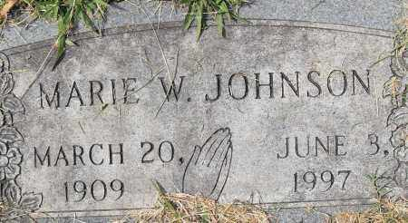 JOHNSON, MARIE W - Pulaski County, Arkansas | MARIE W JOHNSON - Arkansas Gravestone Photos