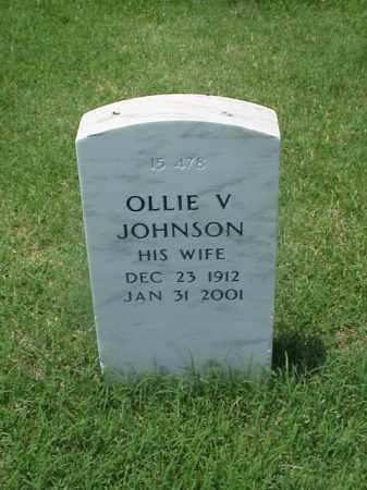 JOHNSON, OLLIE V - Pulaski County, Arkansas | OLLIE V JOHNSON - Arkansas Gravestone Photos