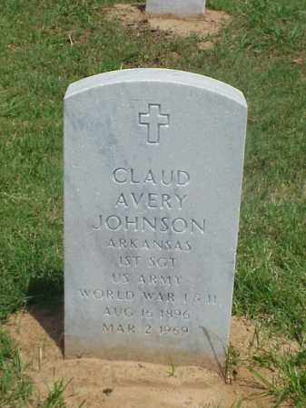 JOHNSON (VETERAN 2 WARS), CLAUD AVERY - Pulaski County, Arkansas | CLAUD AVERY JOHNSON (VETERAN 2 WARS) - Arkansas Gravestone Photos