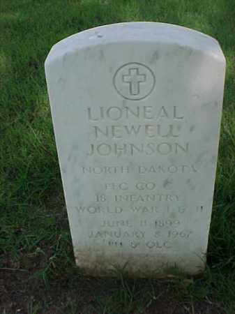 JOHNSON (VETERAN 2 WARS), LIONEAL NEWELL - Pulaski County, Arkansas | LIONEAL NEWELL JOHNSON (VETERAN 2 WARS) - Arkansas Gravestone Photos