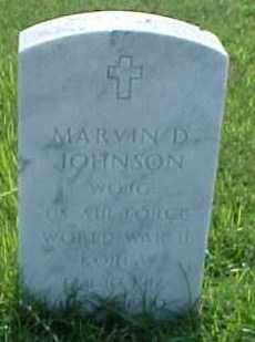 JOHNSON (VETERAN 2 WARS), MARVIN D - Pulaski County, Arkansas | MARVIN D JOHNSON (VETERAN 2 WARS) - Arkansas Gravestone Photos