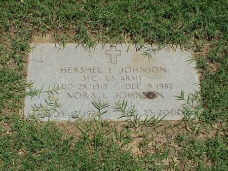 JOHNSON (VETERAN 3 WARS), HERSHEL E - Pulaski County, Arkansas | HERSHEL E JOHNSON (VETERAN 3 WARS) - Arkansas Gravestone Photos