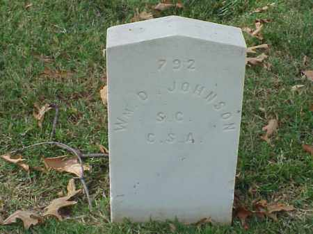 JOHNSON (VETERAN CSA), WILLIAM D - Pulaski County, Arkansas | WILLIAM D JOHNSON (VETERAN CSA) - Arkansas Gravestone Photos