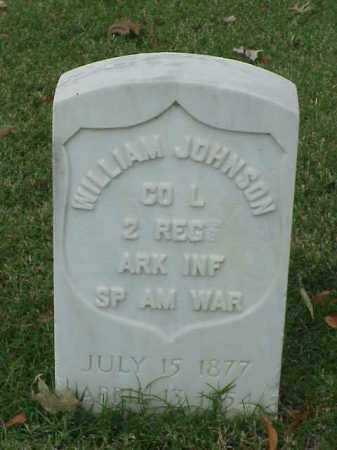JOHNSON (VETERAN SAW), WILLIAM - Pulaski County, Arkansas | WILLIAM JOHNSON (VETERAN SAW) - Arkansas Gravestone Photos