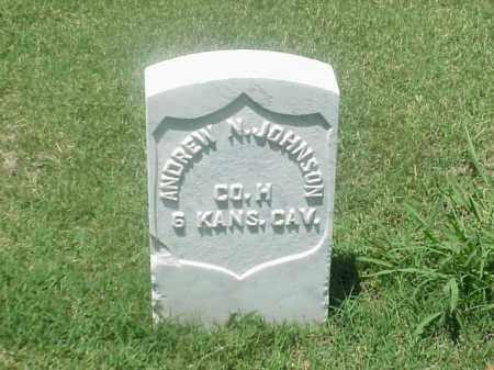 JOHNSON (VETERAN UNION), ANDREW N - Pulaski County, Arkansas | ANDREW N JOHNSON (VETERAN UNION) - Arkansas Gravestone Photos