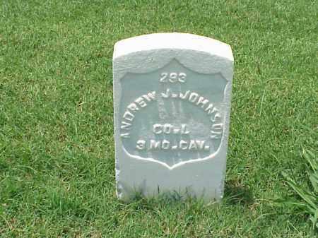 JOHNSON (VETERAN UNION), ANDREW J - Pulaski County, Arkansas | ANDREW J JOHNSON (VETERAN UNION) - Arkansas Gravestone Photos