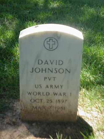JOHNSON (VETERAN WWI), DAVID - Pulaski County, Arkansas | DAVID JOHNSON (VETERAN WWI) - Arkansas Gravestone Photos