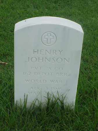 JOHNSON (VETERAN WWI), HENRY - Pulaski County, Arkansas | HENRY JOHNSON (VETERAN WWI) - Arkansas Gravestone Photos