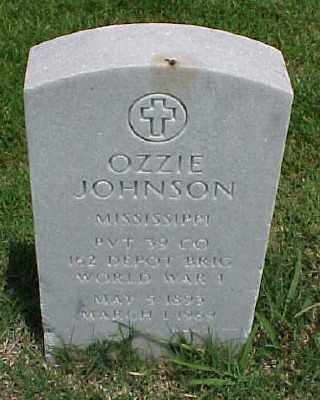 JOHNSON (VETERAN WWI), OZZIE - Pulaski County, Arkansas | OZZIE JOHNSON (VETERAN WWI) - Arkansas Gravestone Photos