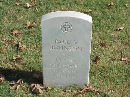 JOHNSON (VETERAN WWI), PAUL V - Pulaski County, Arkansas | PAUL V JOHNSON (VETERAN WWI) - Arkansas Gravestone Photos