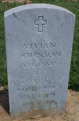 JOHNSON (VETERAN WWI), VIVIAN - Pulaski County, Arkansas | VIVIAN JOHNSON (VETERAN WWI) - Arkansas Gravestone Photos