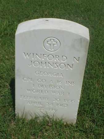 JOHNSON (VETERAN WWI), WINFORD N - Pulaski County, Arkansas | WINFORD N JOHNSON (VETERAN WWI) - Arkansas Gravestone Photos