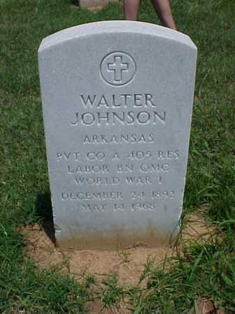 JOHNSON (VETERAN WWI), WALTER - Pulaski County, Arkansas | WALTER JOHNSON (VETERAN WWI) - Arkansas Gravestone Photos