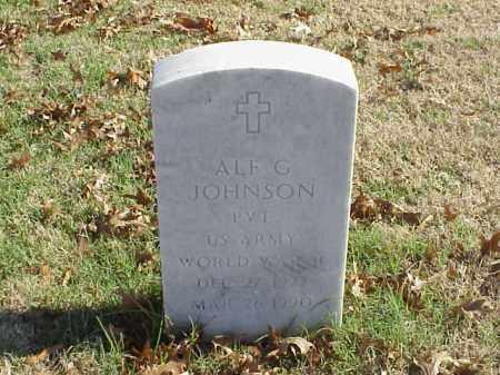 JOHNSON (VETERAN WWII), ALF G - Pulaski County, Arkansas | ALF G JOHNSON (VETERAN WWII) - Arkansas Gravestone Photos