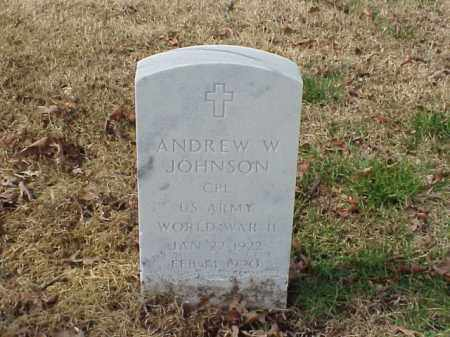 JOHNSON (VETERAN WWII), ANDREW W - Pulaski County, Arkansas | ANDREW W JOHNSON (VETERAN WWII) - Arkansas Gravestone Photos