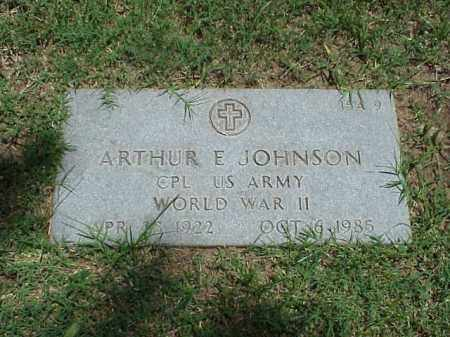 JOHNSON (VETERAN WWII), ARTHUR E - Pulaski County, Arkansas | ARTHUR E JOHNSON (VETERAN WWII) - Arkansas Gravestone Photos