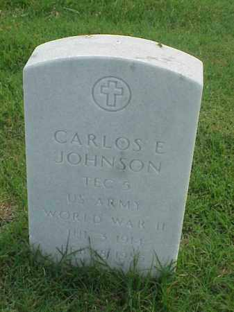JOHNSON (VETERAN WWII), CARLOSE E - Pulaski County, Arkansas | CARLOSE E JOHNSON (VETERAN WWII) - Arkansas Gravestone Photos