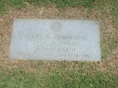 JOHNSON (VETERAN WWII), CARL V - Pulaski County, Arkansas | CARL V JOHNSON (VETERAN WWII) - Arkansas Gravestone Photos