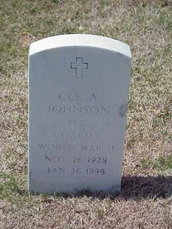 JOHNSON (VETERAN WWII), CLE A - Pulaski County, Arkansas | CLE A JOHNSON (VETERAN WWII) - Arkansas Gravestone Photos