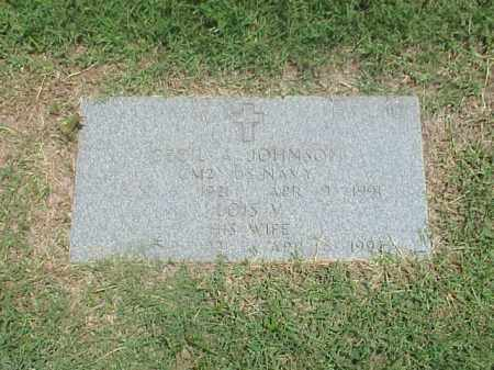 JOHNSON (VETERAN WWII), CECIL A - Pulaski County, Arkansas | CECIL A JOHNSON (VETERAN WWII) - Arkansas Gravestone Photos