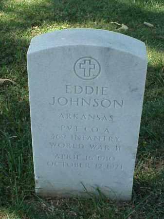 JOHNSON (VETERAN WWII), EDDIE - Pulaski County, Arkansas | EDDIE JOHNSON (VETERAN WWII) - Arkansas Gravestone Photos