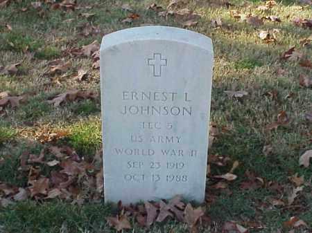JOHNSON (VETERAN WWII), ERNEST L - Pulaski County, Arkansas | ERNEST L JOHNSON (VETERAN WWII) - Arkansas Gravestone Photos