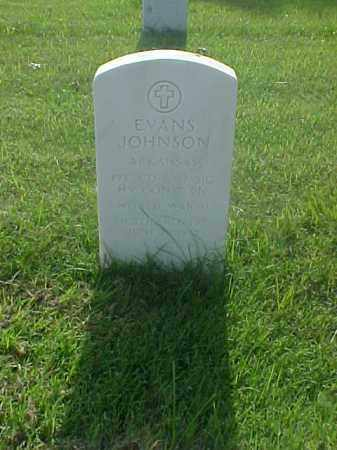JOHNSON (VETERAN WWII), EVANS - Pulaski County, Arkansas | EVANS JOHNSON (VETERAN WWII) - Arkansas Gravestone Photos