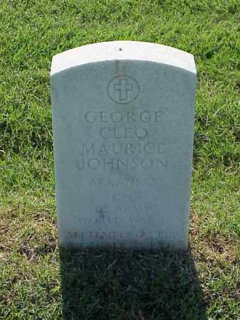 JOHNSON (VETERAN WWII), GEORGE CLEO MAURICE - Pulaski County, Arkansas | GEORGE CLEO MAURICE JOHNSON (VETERAN WWII) - Arkansas Gravestone Photos