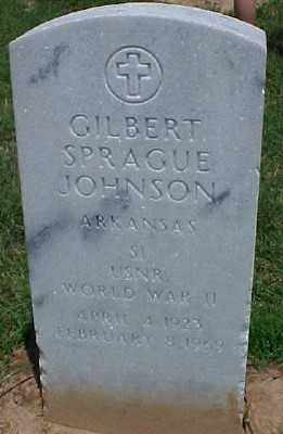 JOHNSON (VETERAN WWII), GILBERT SPRAGUE - Pulaski County, Arkansas | GILBERT SPRAGUE JOHNSON (VETERAN WWII) - Arkansas Gravestone Photos