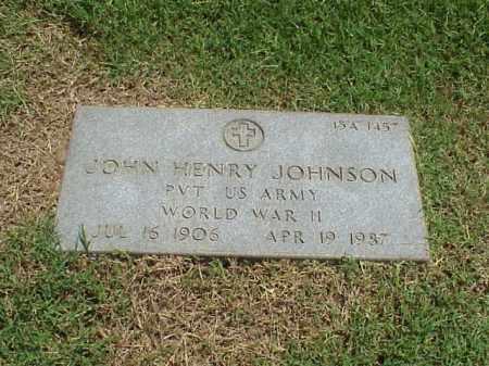 JOHNSON (VETERAN WWII), JOHN HENRY - Pulaski County, Arkansas | JOHN HENRY JOHNSON (VETERAN WWII) - Arkansas Gravestone Photos