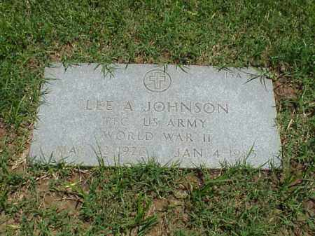 JOHNSON (VETERAN WWII), LEE A - Pulaski County, Arkansas | LEE A JOHNSON (VETERAN WWII) - Arkansas Gravestone Photos
