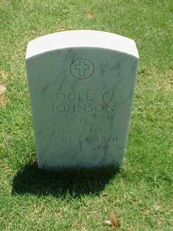 JOHNSON (VETERAN WWII), OGLE T - Pulaski County, Arkansas | OGLE T JOHNSON (VETERAN WWII) - Arkansas Gravestone Photos