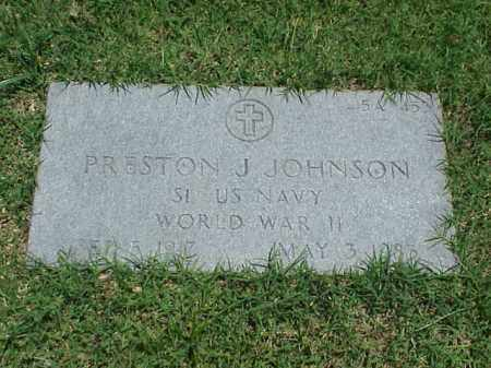 JOHNSON (VETERAN WWII), PRESTON J - Pulaski County, Arkansas | PRESTON J JOHNSON (VETERAN WWII) - Arkansas Gravestone Photos